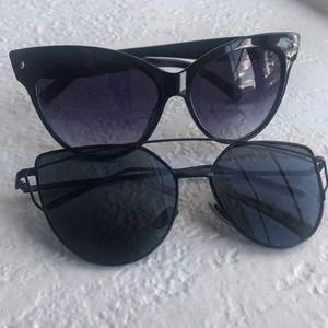 Accessories - 2 Pairs Cateye Sunglasses